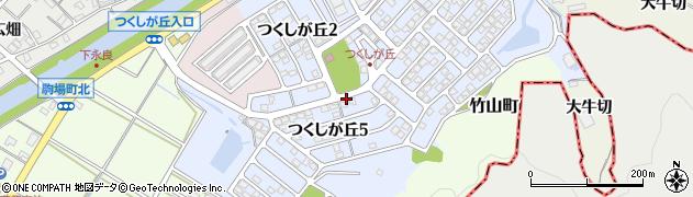 愛知県西尾市つくしが丘周辺の地図