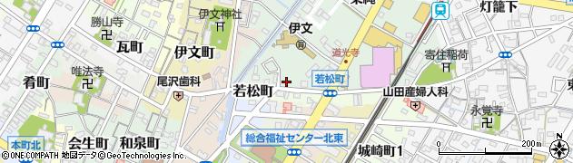 愛知県西尾市道光寺町(天王下)周辺の地図