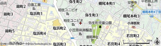 愛知県碧南市弥生町周辺の地図