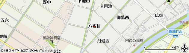 愛知県西尾市下永良町(八石目)周辺の地図
