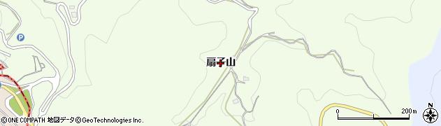 愛知県岡崎市山綱町(扇子山)周辺の地図