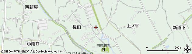 愛知県豊川市上長山町(赤羽根)周辺の地図