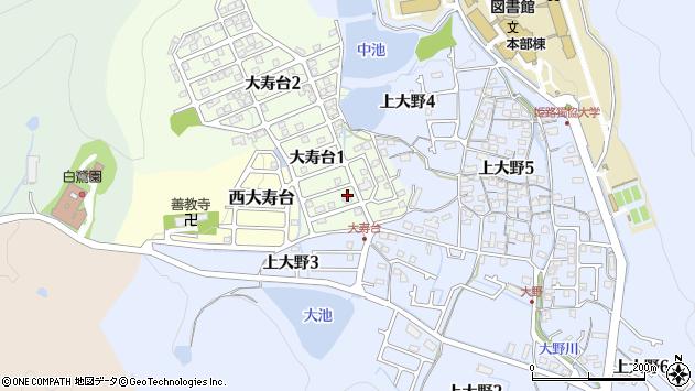 〒670-0898 兵庫県姫路市大寿台の地図