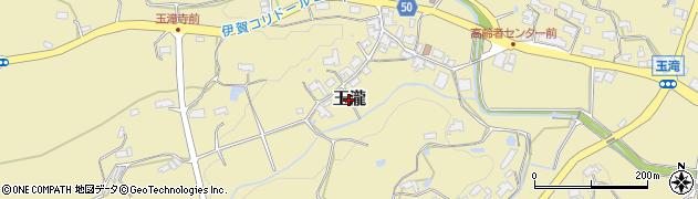 三重県伊賀市玉瀧周辺の地図