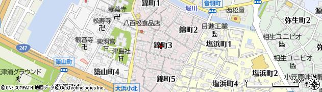 愛知県碧南市錦町周辺の地図