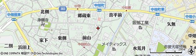 愛知県西尾市中畑町周辺の地図