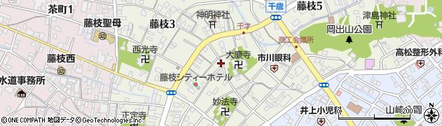静岡県藤枝市藤枝周辺の地図