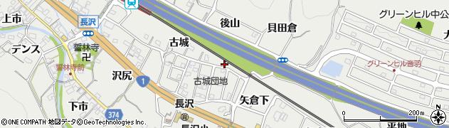 愛知県豊川市長沢町(後山)周辺の地図