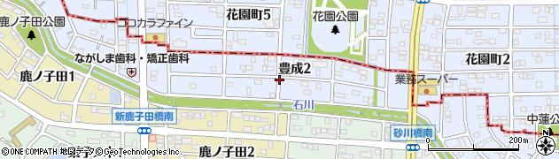 愛知県武豊町(知多郡)豊成周辺の地図