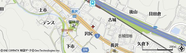 愛知県豊川市長沢町(沢尻)周辺の地図