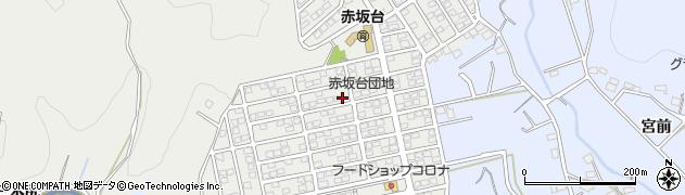愛知県豊川市赤坂台周辺の地図