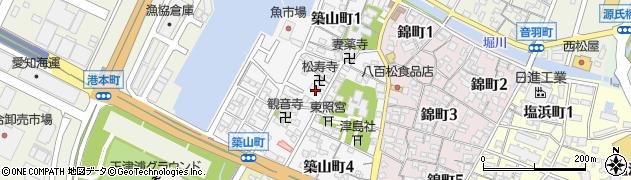 愛知県碧南市築山町周辺の地図