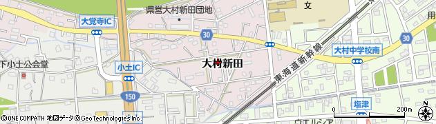 静岡県焼津市大村新田周辺の地図