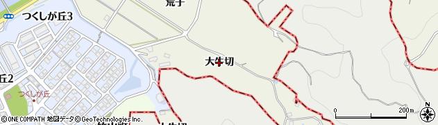 愛知県西尾市貝吹町(大牛切)周辺の地図