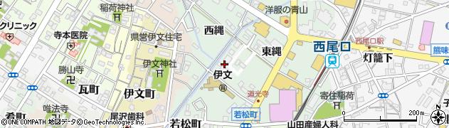 愛知県西尾市道光寺町周辺の地図