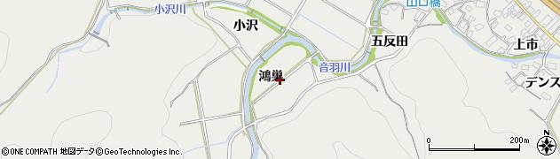 愛知県豊川市長沢町(鴻巣)周辺の地図