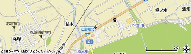 愛知県豊川市東上町(松本)周辺の地図