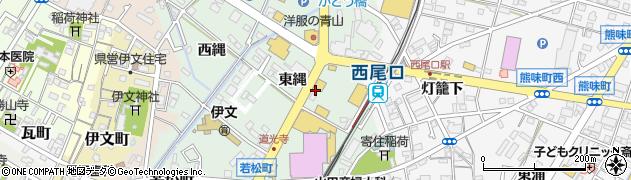 愛知県西尾市道光寺町(東縄)周辺の地図