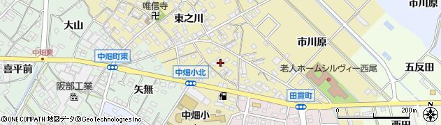 愛知県西尾市田貫町(高畑)周辺の地図