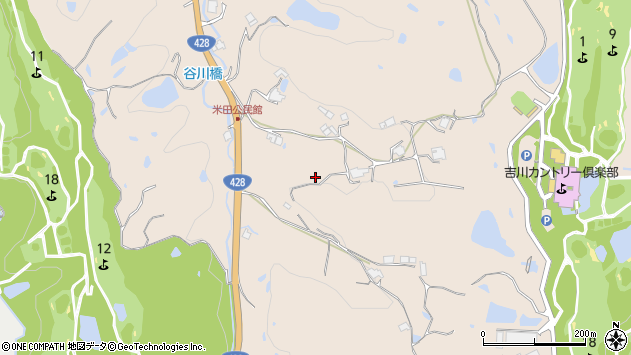 〒673-1121 兵庫県三木市吉川町米田の地図