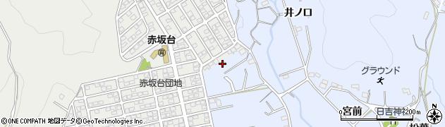愛知県豊川市赤坂町(北平山)周辺の地図