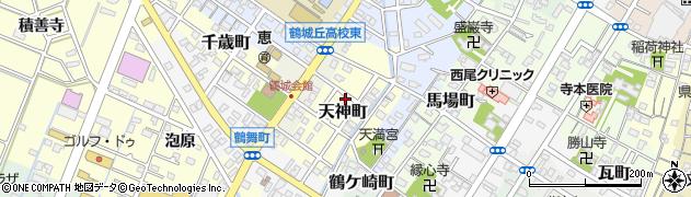 愛知県西尾市天神町周辺の地図