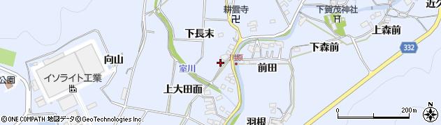 愛知県豊川市萩町(下長末)周辺の地図