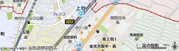 大阪府高槻市上牧南駅前町周辺の地図