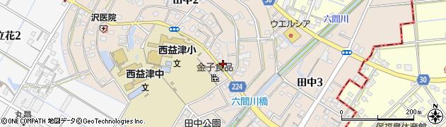 静岡県藤枝市田中周辺の地図