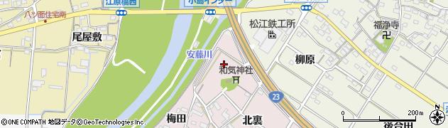 愛知県西尾市和気町(堤外川田)周辺の地図