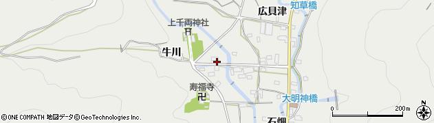 愛知県豊川市千両町(開津田)周辺の地図