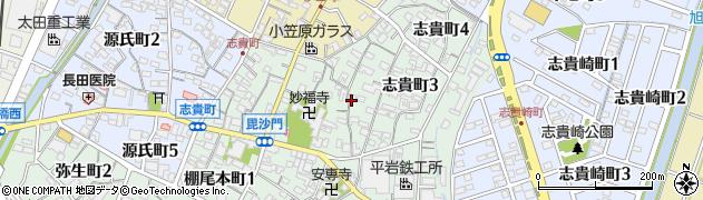 愛知県碧南市志貴町周辺の地図