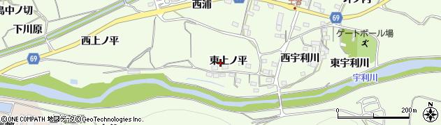愛知県新城市一鍬田(東上ノ平)周辺の地図