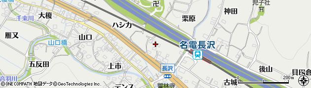愛知県豊川市長沢町(栗原)周辺の地図