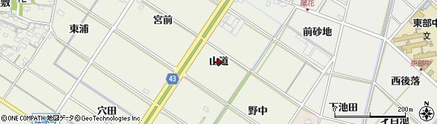 愛知県西尾市江原町(山道)周辺の地図