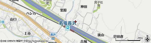 愛知県豊川市長沢町(音羽)周辺の地図