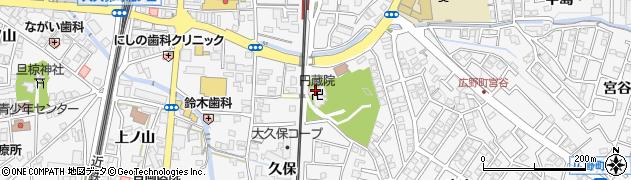 円蔵院周辺の地図