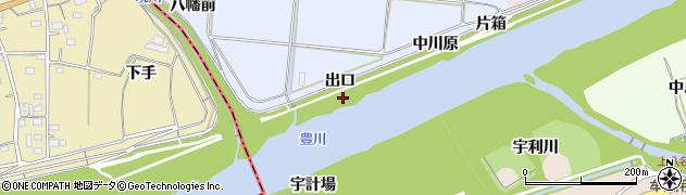 愛知県新城市川田(出口)周辺の地図