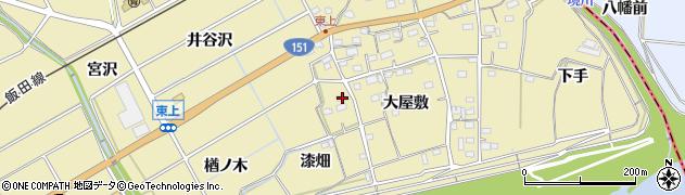 愛知県豊川市東上町(漆畑)周辺の地図