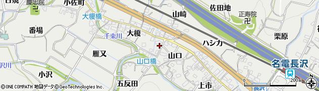 愛知県豊川市長沢町周辺の地図