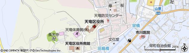 静岡県浜松市天竜区周辺の地図