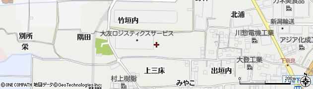 京都府八幡市下奈良(下三床)周辺の地図