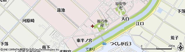 愛知県西尾市上永良町(西半ノ宮)周辺の地図