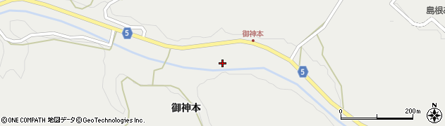 島根県浜田市旭町丸原(御神本)周辺の地図