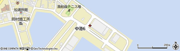 静岡県焼津市中港周辺の地図