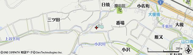 愛知県豊川市長沢町(番場)周辺の地図