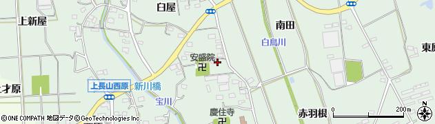 愛知県豊川市上長山町(東新屋)周辺の地図
