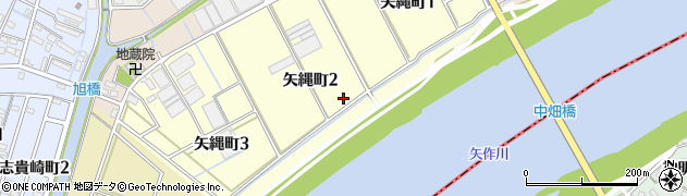 愛知県碧南市矢縄町周辺の地図