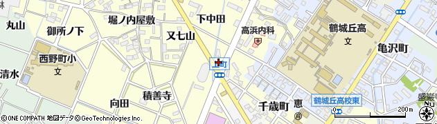 愛知県西尾市上町(林)周辺の地図
