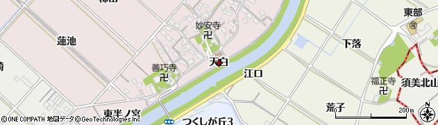 愛知県西尾市上永良町(天白)周辺の地図